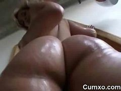 Oil, Ass, Solo, Extreme big ass
