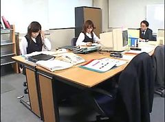 Asian, Office, Japanese office upskirt