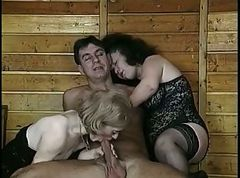 Hairy, Threesome, Very hairy pussy facesitting lesbian
