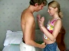 Teen, Russian, Tight, Girl so tight guy comes in less than a minute