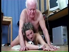 Teen, Old Man, Busty old man gangbang