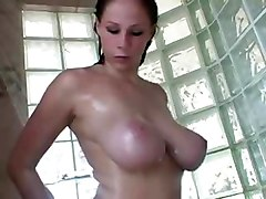 Bus, Teen, Shower, My mom shower son loves big dick