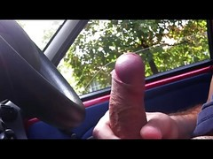 Car, Gay jerking while driving car