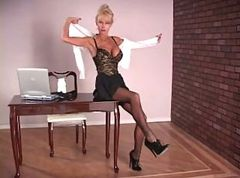 Heels, Stockings, Secretary, Ballbusting high heels