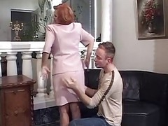 French, Mature, Redhead, Retro french mother son with english subtitles