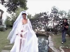 Husband, Bride, Wedding, Bride gets cum from stripper
