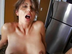 Kitchen, Milf, Son pucks mom in kitchen