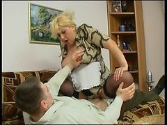 Bus, Italian, Vintage, Black maid gets fucked by white husband and wife