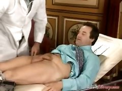 Doctor, Wife, German, Real female doctor examines and fuck male patient