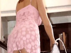 Upskirt, Spying on mature moms upskirt cleaning