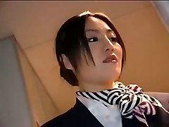 Asian, Stewardess, Japanese stewardess massage