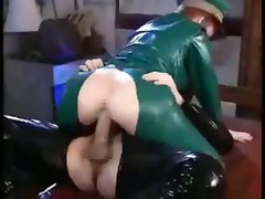 Fetish, Latex, Spy pissing boys