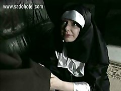 Nun, German, Ass, Dad and fat daughter creampie