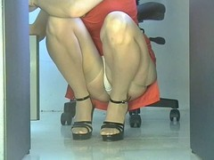 Office, Upskirt, Teen fucked by robber in office brazzers