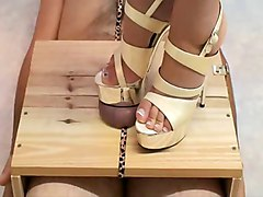 Heels, Urethral high heel insertion male ass