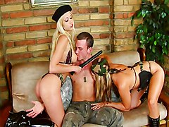 Threesome, Military prison porn free