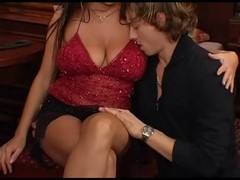 Italian, Milf, Amateur black milf picked up by white