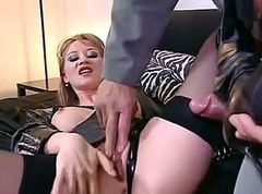 Boots, Black, Gangbang, Lex steele fucks with boots