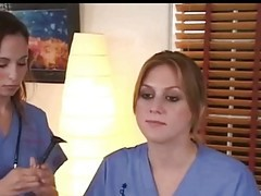 Lesbian, Nurse, Teacher, Femdom latex nurse sounding urethra