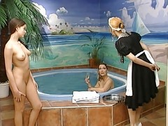 Pool, Lesbian, German, Czech-cabin pool