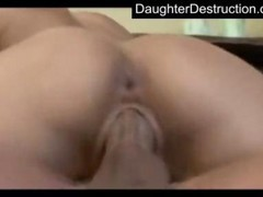 Rough, Teen, Cute, Teen pussy destroyed cock