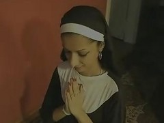 Indian, Nun, Swallow, Please swallow my cum mom