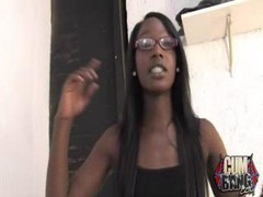 Ebony, Gangbang, Smoking, Horny ebony step sister